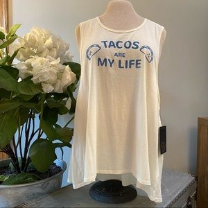 NWT Chaser taco 🌮 tank top
